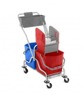Dviejų talpų valymo vežimėlis 2x25L