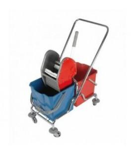 Dviejų talpų valymo vežimėlis, 2x25L