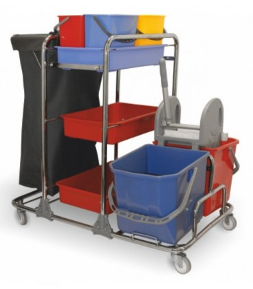 Valytojos vežimėlis kombinuotu rėmu