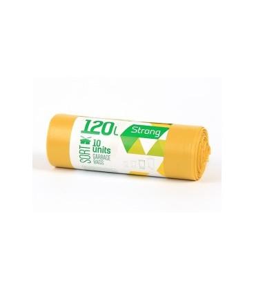 Šiukšlių maišai Sortex 120l geltoni