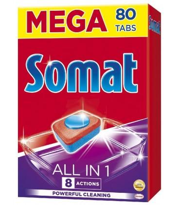 Indaplovių tabletės Somat 80