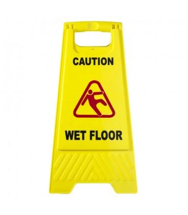 """Įspėjamasis ženklas """"Atsargiai šlapios grindys"""""""